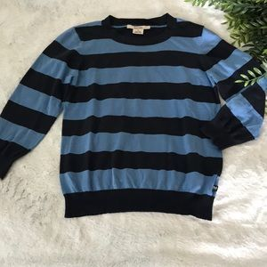 Michael Kors striped cropped sweater